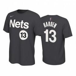 James Harden Nets & 13 2021 Verdienste Edition Schwarz T-Shirt Name Nummer