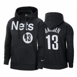 James Harden Brooklyn Nets 2021 Verdienter Ausgabe Hoodie Schwarz Pullover