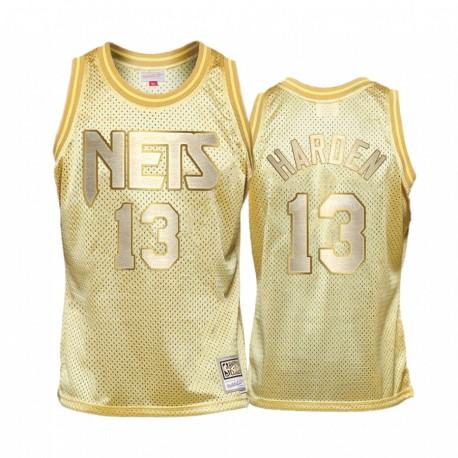 Brooklyn Nets James Harden Gold Midas SM Golden Edition Trikot