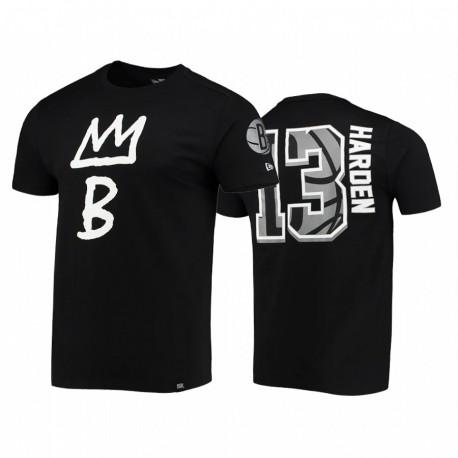 James Harden & 13 Nets City Edition Top Player Schwarz T-Shirt
