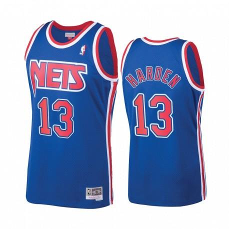 James Harden & 13 Brooklyn Nets Blue Hardwood Classics Trikot