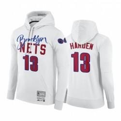 James Harden Brooklyn Nets NBA X BR X M & N Hoodie Weiß Hardwood Classics