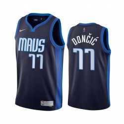 2020-21 Dallas Mavericks Luka Doncic Verdiente Edition Navy & 77 Trikot