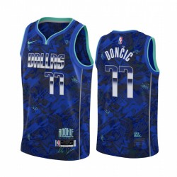 Luka Doncic Dallas Mavericks Rookie des Jahres Royal Trikot Select Series
