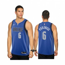 Kristaps Porzingis Dallas Mavericks Royal Icon 2020-21 Trikot