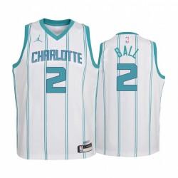 Charlotte Hornets Lamelo Ball 2020-21 Association Edition Weiß Jugend Trikot & 2