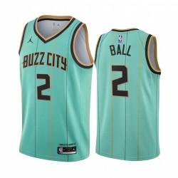 Lamelo Ball Charlotte Hornets 2020-21 Mint Green City Trikot 2020 NBA Draft