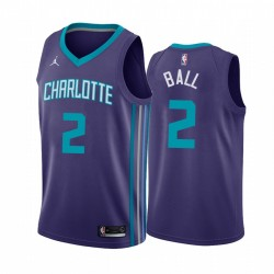 Lamelo Ball Charlotte Hornets 2020-21 Purple Anweisung Trikot 2020 NBA Draft
