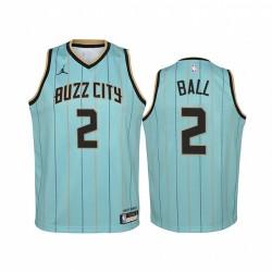 Lamelo Ball Charlotte Hornets 2020-21 Stadt Jugend Trikot - Mintgrün