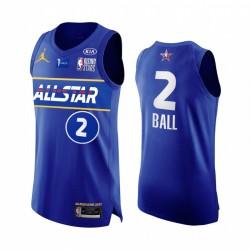 Lamelo Ball USA-Team Authentische Trikot Blue All Star 2021 steigende Sterne Uniform