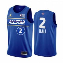 Lamelo Ball USA Team 2021 Aufstiegssterne Trikot Blue All-Star Hornets