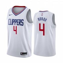 Rajon Rondo Los Angeles Clippers Weiß Association Edition 2021 Handel Trikot