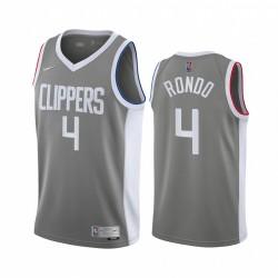 Rajon Rondo Los Angeles Clippers Grau verdiente Ausgabe 2021 Handel Trikot