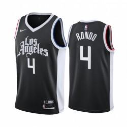 Rajon Rondo Los Angeles Clippers Schwarz City Edition 2021 Handel Trikot