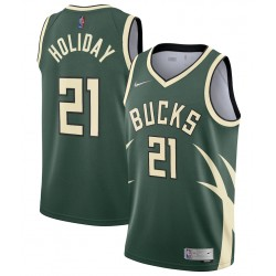 Milwaukee Bucks Nike Verdient Edition Swingman Trikot - Jrue Holiday - Herren