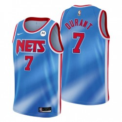 NO. 7 Kevin Durant Brooklyn Nets Swingman Blau Trikot Hartholz Klassiker