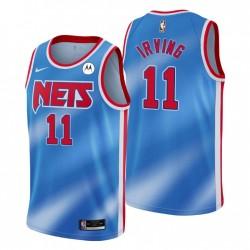 NO. 11 Kyrie Irving Brooklyn Nets Swingman Blau Trikot Hartholz Klassiker