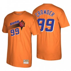 Phoenix Suns Jae Crowder & 99 Mitchell & Ness Reload 2.0 Orange T-Shirt