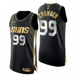 Phoenix Sonnen Trikot Jae Crowder Golden Edition Authentic Limited Schwarz Gold