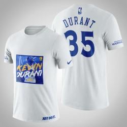 Golden State Warriors Kevin Durant # 35 Weiß Legend Shout T-Shirt
