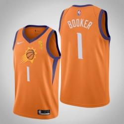 Suns Devin Booker Orange Meister Trikot - Erklärung