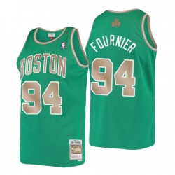 Evan Fournier Nr. 94 Boston Celtics Mitchell & Ness Kelly Green Hardwood Classics Trikot
