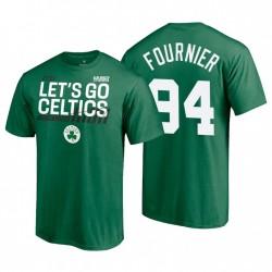 Boston Celtics Dunk 2021 NBA Playoffs Green Evan Fournier & 94 T-Shirt