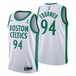 City Edition & 94 Evan Fournier Swingman Weiß Boston Celtics Trikot