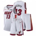 Miami Heat Nike Bam Adebayo # 13 WEIß Association Edition Gym Outfits