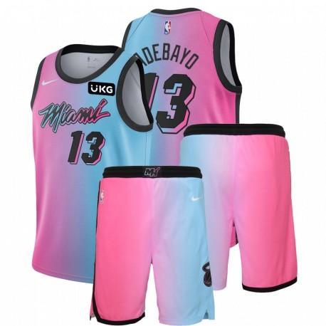 Nike Miami Heat Bam Adebayo & 13 Blue Pink City Edition Gym Outfits