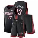 Nike Miami Heat Bam Adebayo # 13 Schwarz Symbol Edition Gym Outfits