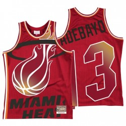 BAM ADEBAYO 13 Nein. Miami Hitze Mitchell & Ness Rot Hartholzklassiker, die Trikot ausgeblasen hat