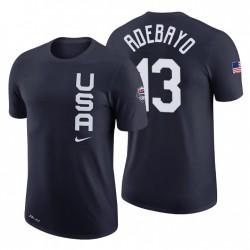 USA-Team Bam Adebayo & 13 Navy Team Performance T-Shirt