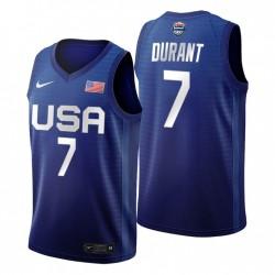 USA-Team 2021 Tokyo Olympiade Basketball & 7 Kevin Durant Royal Trikot