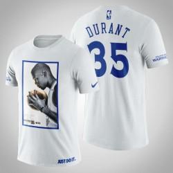 Golden State Warriors Kevin Durant # 35 Weiß Legend Side T-Shirt