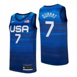 USA Team 2021 Tokyo Olympiade Basketball & 7 Kevin Durant Navy Player Trikot