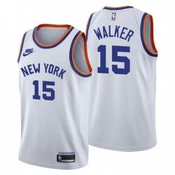 New York Knicks Kemba Walker & 15 75. Jubiläum Weiß Trikot