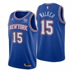 New York Knicks Statement Edition Kemba Walker & 15 Blue Swingman Trikot