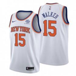New York Knicks Association Edition Kemba Walker Nr. 15 Weiß Swingman Trikot