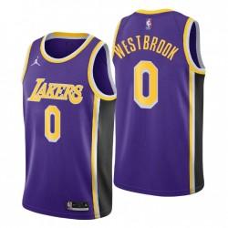 Los Angeles Lakers Statement Edition Russell Westbrook & 0 lila Swingman Trikot