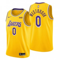 Los Angeles Lakers Icon Edition & 0 Russell Westbrook Gold Trikot Swingman