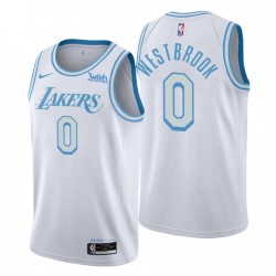 Los Angeles Lakers City Edition Russell Westbrook & 0 Weiß Swingman Trikot