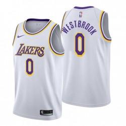 Los Angeles Lakers Association Edition Russell Westbrook Nr. 0 WEIß Swingman Trikot