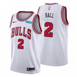 Chicago Bulls Association Edition Lonzo Ball Nr. 2 Weiß Swingman Trikot