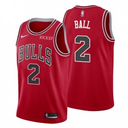 Chicago Bulls Icon Edition & 2 Lonzo Ball Rot Trikot Swingman