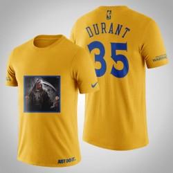 Golden State Warriors Kevin Durant # 35 Gelbe Legend Trophy T-Shirt