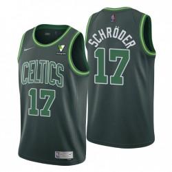 Boston Celtics verdient Ausgabe Dennis Schroder Nr. 17 Grün Swingman Trikot