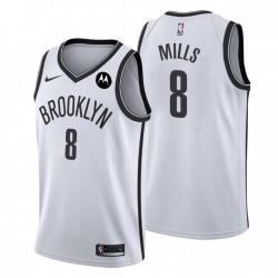 Brooklyn Nets Association Edition Patty Mills Nr. 8 Weiß Swingman Trikot