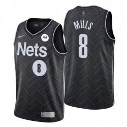 Brooklyn Nets verdiente Edition & 8 Patty Mills Schwarz Swingman Trikot