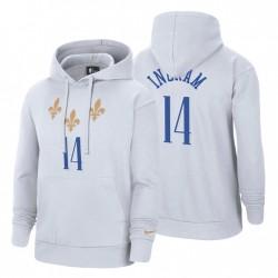 2020-21 New Orleans Pelicans Brandon Ingram City Pullover Hoodie Weiß